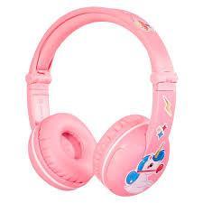 سماعة رأس لاسلكية مدعمة بالبلوتوث للأطفال من BUDDYPHONES - وردي