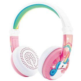 سماعة رأس للأطفال Wave  بالبلوتوث ومقاومة للماء من BUDDYPHONES - وردي