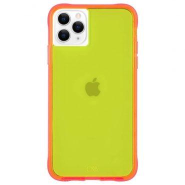 كفر موبايل Case-Mate - iPhone 11 Pro Max - نيون أخضر/ زهري