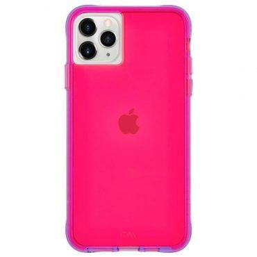كفر موبايل Case-Mate - iPhone 11 Pro Max - نيون زهري/ بنفسجي