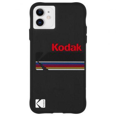 كفر موبايل Case-Mate - Kodak Case For iPhone 11 - أسود مع شعار كوداك اللامع