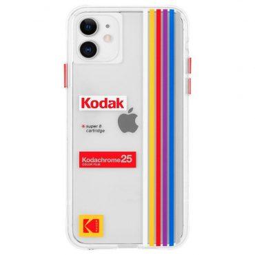 كفر موبايل Case-Mate - Kodak Case For iPhone 11 - شفاف بتصميم Kodachrome Super 8