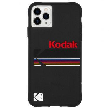 كفر موبايل Case-Mate - Kodak Case For iPhone 11 Pro Max - أسود مع شعار كوداك اللامع