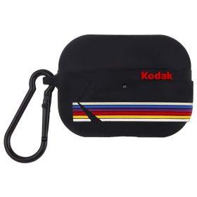 كفر سماعة Case-Mate - Kodak AirPods Pro Case - أسود غير لامع مع خطوط