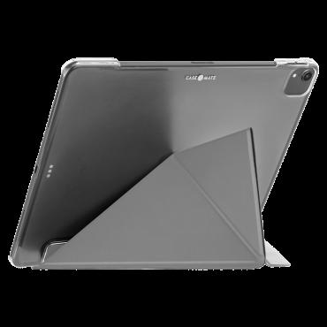 كفر Case-Mate - iPad 10.2 7Th Gen Flip Folio Case - Leather - رمادي فاتح