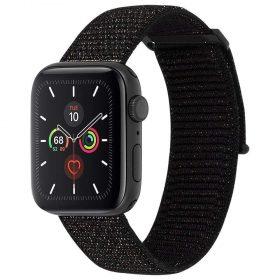 حزام ساعة Case-mate - 42-44mm Apple Watch Nylon Band - أسود / معدني