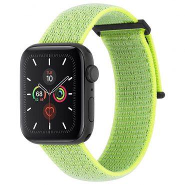 حزام ساعة Case-mate - 42-44mm Apple Watch Nylon Band - أخضر