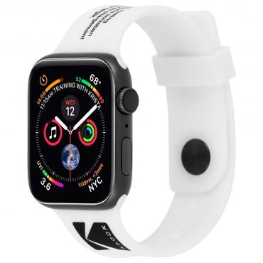 حزام ساعة Case-Mate - Kodak Apple Watch Band 38-40mm - أبيض