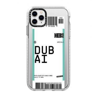 كفر iPhone 11 Pro Max Casetify Dubai Pangram Collection Impact Case - شفاف