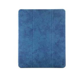 "كفر جلدي Leather Case with Pencil Slot Apple iPad Pro 12.9"" ( 2020 ) Comma - أزرق"