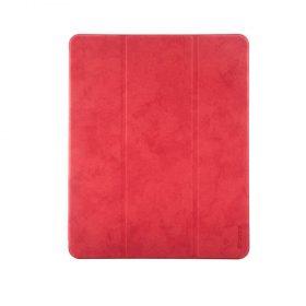"كفر جلدي Leather Case with Pencil Slot Apple iPad Pro 12.9"" ( 2020 ) Comma - أحمر"