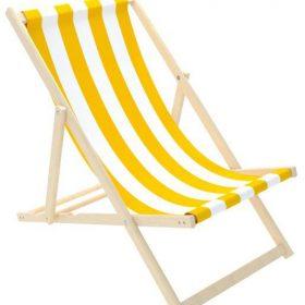كرسي الشاطئ للأطفال Delsit - Sunbed for Children - White Stripes - أصفر