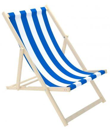 كرسي الشاطئ للأطفال Delsit - Sunbed for Children - White Stripes - أزرق
