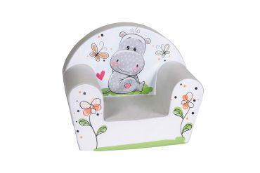 كرسي للأطفال Delsit - Arm Chair Hippo - رمادي