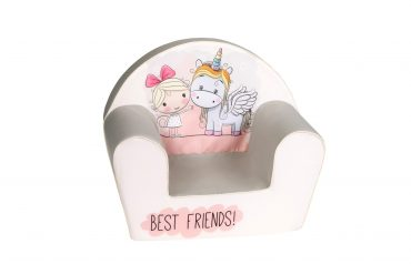 أريكة Delsit Arm Chair -  وحيد القرن والطفلة أفضل أصدقاء