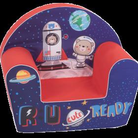 أريكة Delsit Arm Chair -  صاروخ فضاء مع لون أحمر