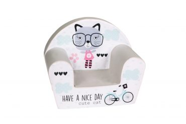 أريكة Delsit Arm Chair -  قطة مع عبارة Have A Nice Day