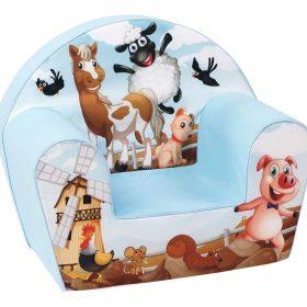 أريكة Delsit Arm Chair -  حيوانات المزرعة باللون الأزرق