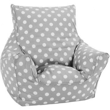 أريكة Delsit Bean Chair - رمادي مع نقاط البولكا