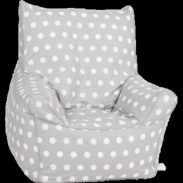 كرسي بتصميم حبة الفول  Delsit Bean Chair - رمادي منقط