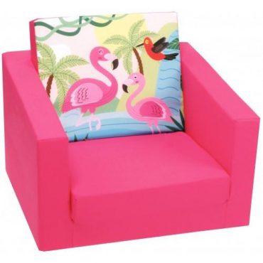 أريكة مفردة Delsit Single Sofa - طائر الفلامينجو الوردي