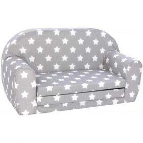 أريكة و سرير 2 في 1 Delsit Sofa Bed  - رمادي مع نجوم بيضاء