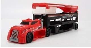 لعبة شاحنة نقل سيارات السباق Race and Store Transporter - Dickie