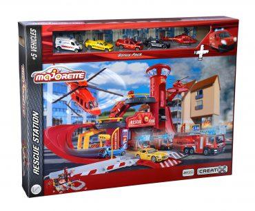 لعبة محطة الإنقاذ مع 5 سيارات MAJORETTE - Rescue Station + 5 Vehicles
