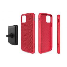 كفر موبايل EVUTEC AERGO BALLISTIC NYLON WITH AFIX IPHONE 11 Pro - أحمر