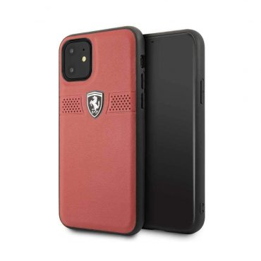 Ferrari Off Track Grained Leather For iPhone 11 - Red_x000D_