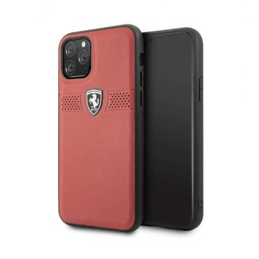 كفر جلدي لآيفون 11 Pro من Ferrari - أحمر