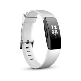 ساعة يد رياضية من Fitbit – أسود/ أبيض
