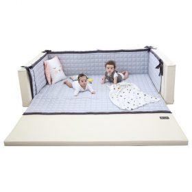 سرير أطفال متعدد الاستخدامات مقاس كبير Ggumbi Fabric Guard for Twin Star Extra Large - رمادي/ أسود