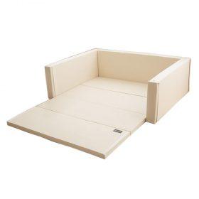 سرير أطفال متعدد الاستخدامات مقاس كبير Ggumbi Twin Star Extra Large - عاجي