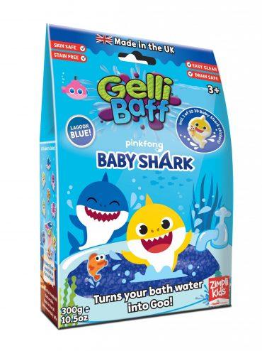 لعبة جيلي باف أزرق 300 جرام glibbi-Zimpli kids - Baby Shark Gelli Baff