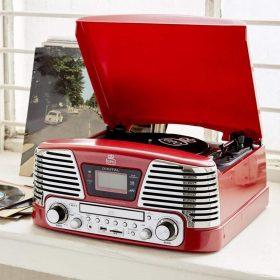 مشغل الصوت ممفيس أحمر اللون من جي بي او