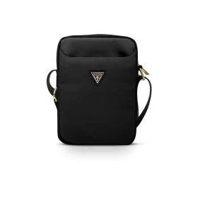 "حقيبة التابلت Guess Nylon Tablet Bag with Metal Triangle Logo 8"" - Black"