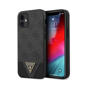 "كفر Guess 4G PU Contrast Hard Case  w/ Metal Logo Case for iPhone 12 Mini (5.4"") - Grey"
