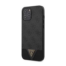 "كفر Guess 4G PU Contrast Hard Case for iPhone 12 Pro Max (6.7"") - Grey"