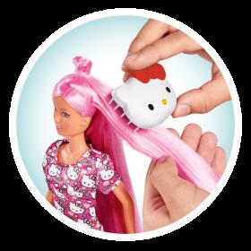 لعبة دمية هلو كيتي مع فرشاة شعر SIMBA - HK SL Hairplay