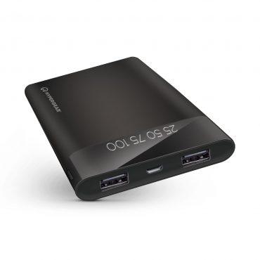 باور بانك HyperGear Universal Dual USB Portable Battery Pack - أسود
