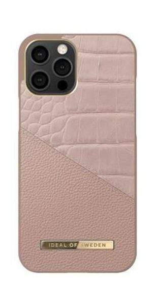 كفر iDeal of Sweden - ATELIER Apple iPhone 12 Pro Max Case - Rose Smoke Croco