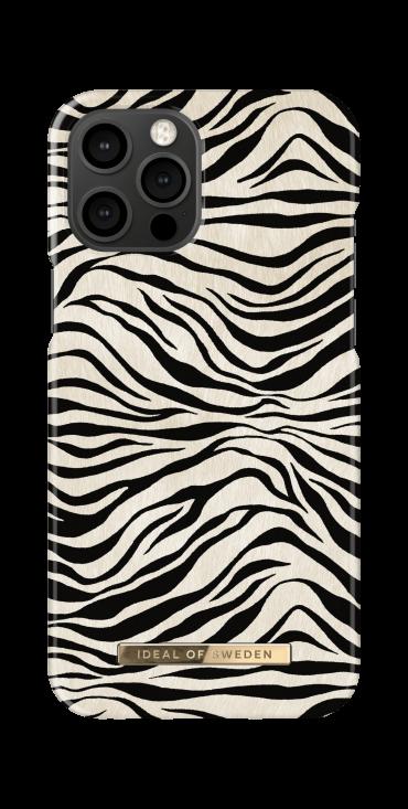 كفر iDeal of Sweden - ZAFARI Apple iPhone 12 Pro Max Case - Zafari Zebra