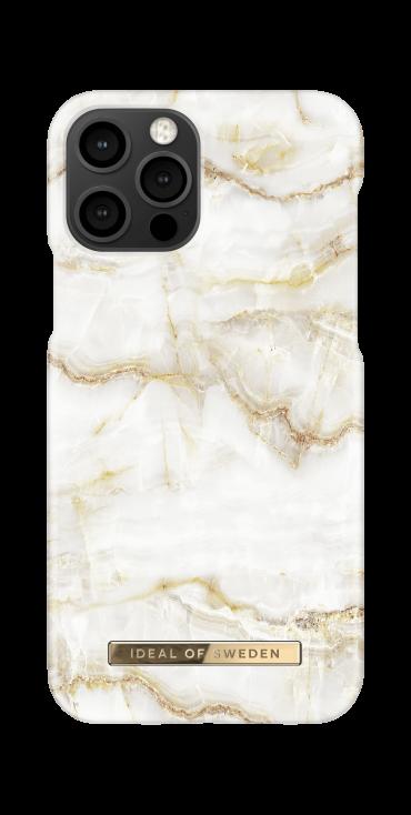كفر iDeal of Sweden - MARBLE Apple iPhone 12 Pro Case - Golden Pearl Marble