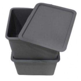 صندوق تخزين iFam - Organizer (A) Basket + Cover /Extra Large 2EA - رمادي