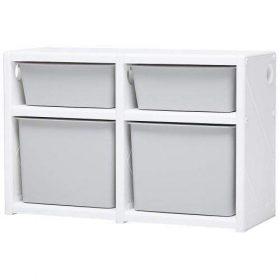خزانة مزدوجة IFAM - MYPICK MODULAR ORGANIZER 2 LEVEL DOUBLE - أبيض  رمادي