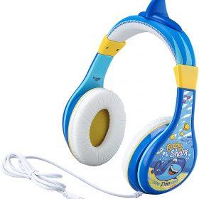 سماعة رأس سلكية للأطفال KIDdesigns - Baby Shark Wired Headphones - أزرق