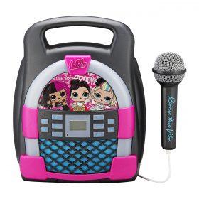 لعبة مكبر صوت بلوتوث مع ميكروفون سلكي للأطفال مع ذاكرة مدمجةKIDdesigns - LOL SURPRISE Bluetooth MP3 Sing Along Karaoke Machine