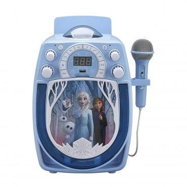 آلة كاريوكي مع ميكروفون سلكي KIDdesigns - FROZEN Bluetooth MP3 Sing Along Karaoke Machine