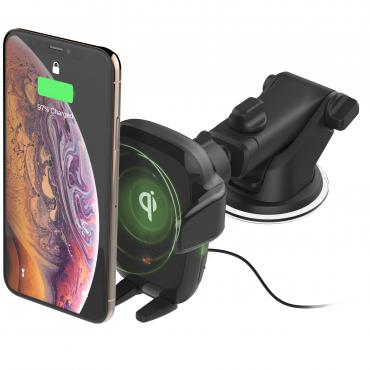 حامل هاتف للسيارة iOttie Auto Sense Automatic Wireless Charging Dash Mount - أسود